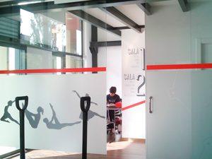 Rotulacion mixta en centro de Pilates