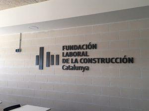 letras corpóreas Rótulo logotipo Fundación laboral de la Construcción