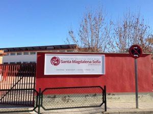 Rótulo sin luz Colegio Magdalena Sofia