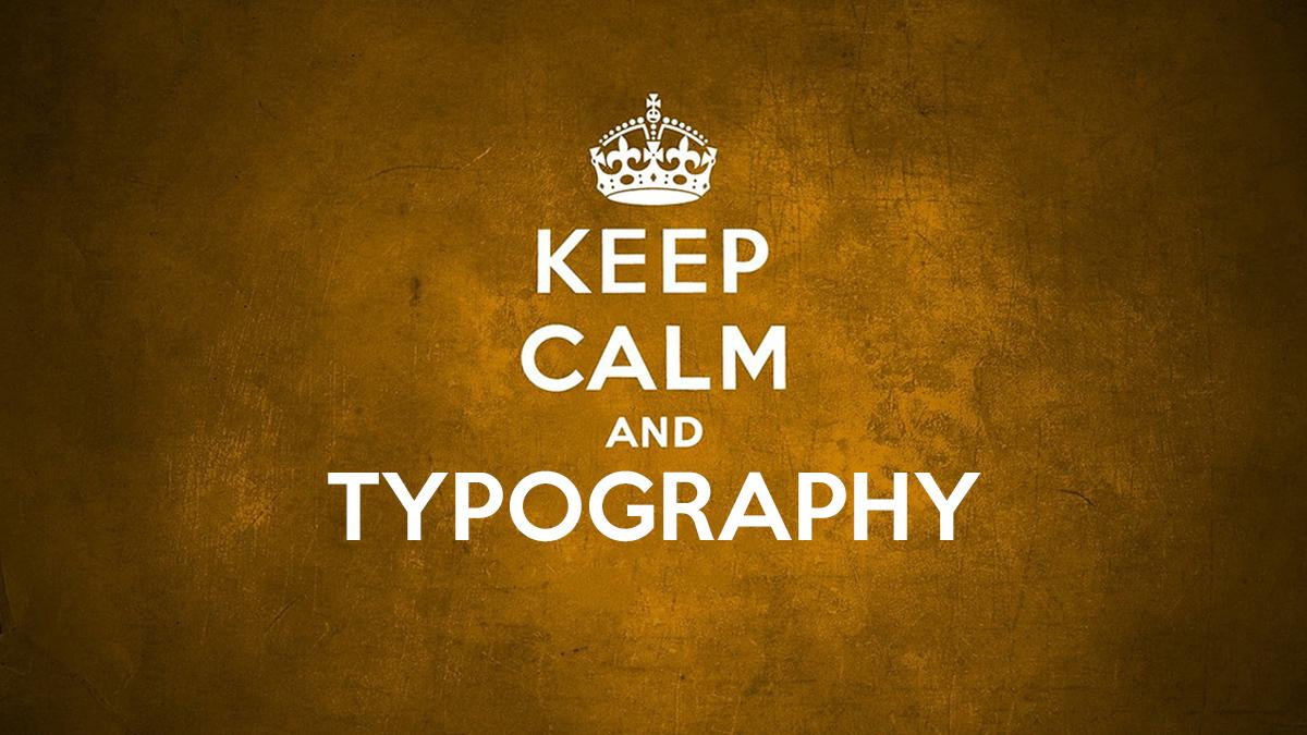 Tipografía KEEP-CALM